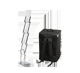 Дешевая буклетница с рюкзаком, удобная в транспортировке