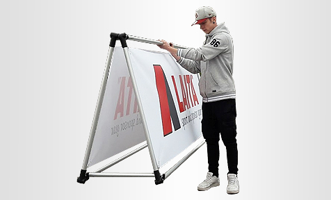 Sport and Sponsor Advertising Outdoor Display