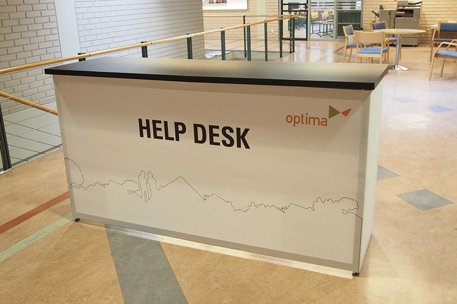 Промостойка 2м Counter 2m Help Desk
