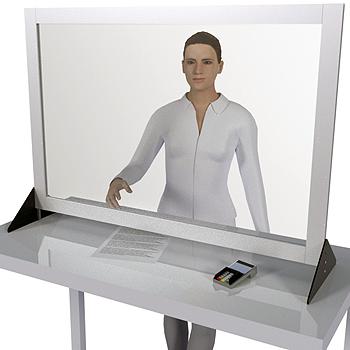 Защитный стенд и экран из пластика ПЭТ и алюминия